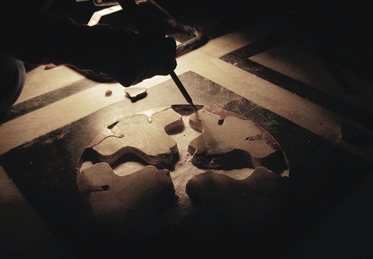 Corso mosaico e tecniche classiche antiche a Bellagio