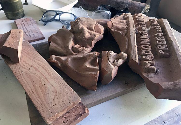 laboratorio artistico per le scuole cocciopesto