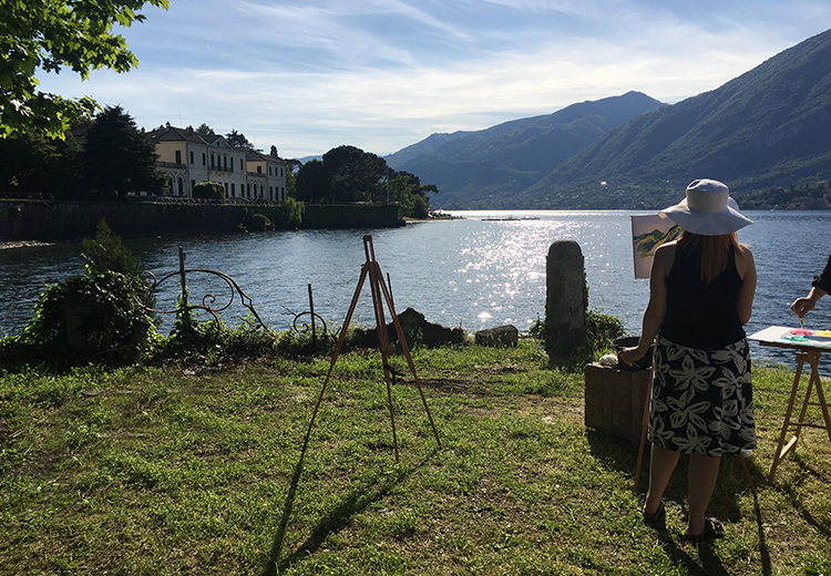 colors art experience on the lake Como